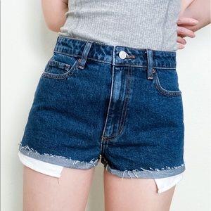 🆕NWT vintage style high rise dark denim shorts